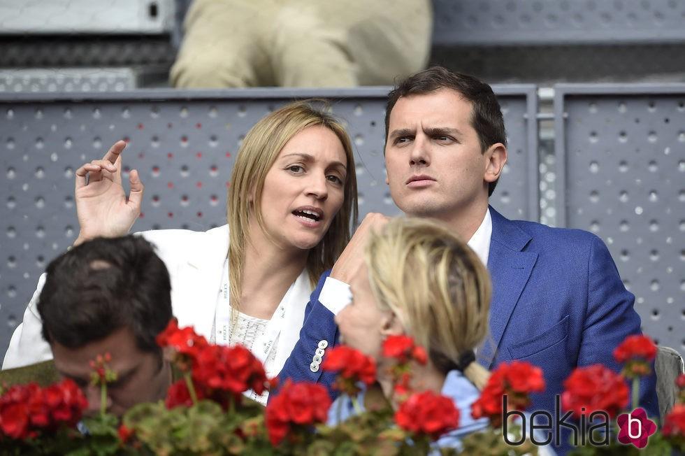 Albert Rivera y Beatriz Tajuelo en el Madrid Open 2016