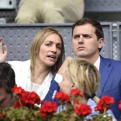 Albert Rivera y Beatriz Tajuelo en el Madrid Open 2016