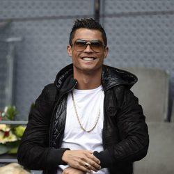 Cristiano Ronaldo en el torneo de tenis Madrid Open 2016