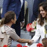 Hiba Abouk y Paula Echevarría en la final del torneo de tenis Madrid Open 2016