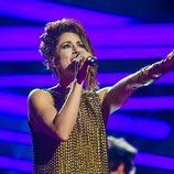 Barei en el segundo ensayo en el Globe Arena de Estocolmo para Eurovisión 2016