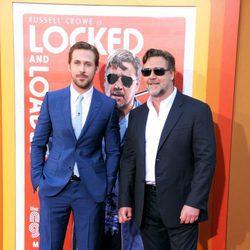 Ryan Gosling y Russell Crowe en el estreno de 'Dos buenos tipos'