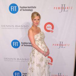 Nicky Hilton luciendo embarazo en la entrega de los Premios FIT 2016