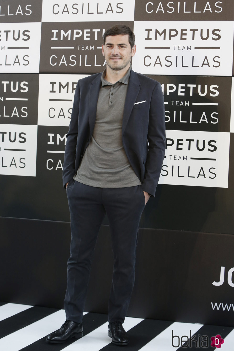 Iker Casillas posando como embajador de la ropa interior Impetus