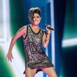 Barei durante uno de los ensayos para Eurovisión 2016 en Estocolmo