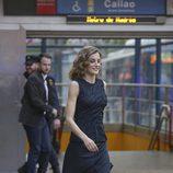La Reina Letizia en el Metro de Callao en la final del certamen de monólogos científicos 'FameLab España 2016'