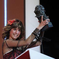 Nerea Camacho recoge su premio a Mejor Actriz Revelación en los Premios Goya 2009