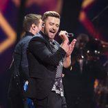 Justin Timberlake actuando con su 'Can't Stop The Feeling!' en el Dress Rehearsal del Festival de Eurovisión 2016
