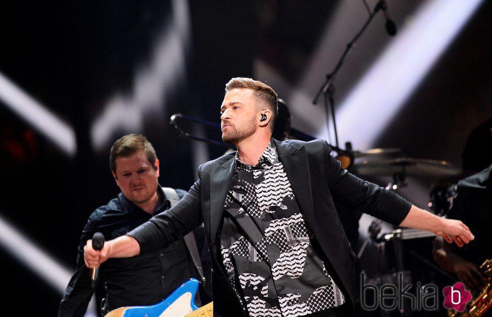 Justin Timberlake entregado al público en el Dress Rehearsal del Festival de Eurovisión 2016