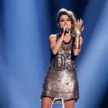 Barei durante su actuación en la final de Eurovisión 2016