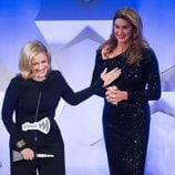 Diane Sawyer y Caitlyn Jenner en GLAAD Media Awards 2016