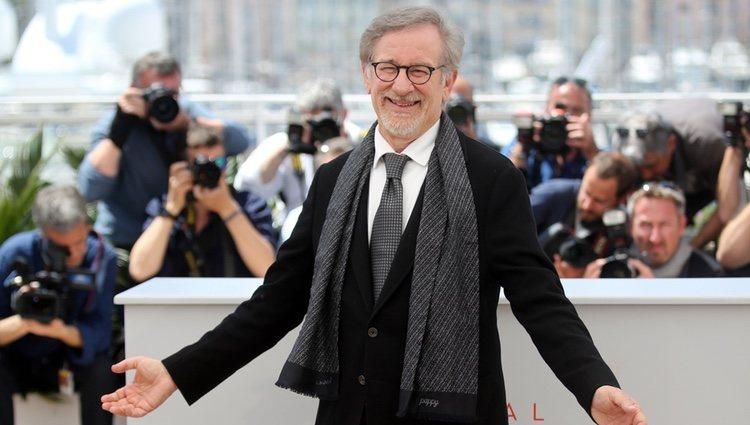 Steven Spielberg en el photocall de la película 'The BFG' en el festival de Cannes 2016