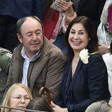 Carmen Martínez Bordiú y Luis Miguel Rodriguez en la corrida de toros de San Isidro 2016