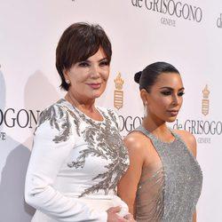 Kim Kardashian y Kris Jenner en la fiesta de Grisogono en el Festival de Cannes 2016
