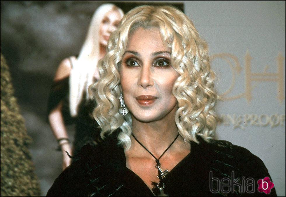 Cher en la presentación de 'Living proof' en Madrid