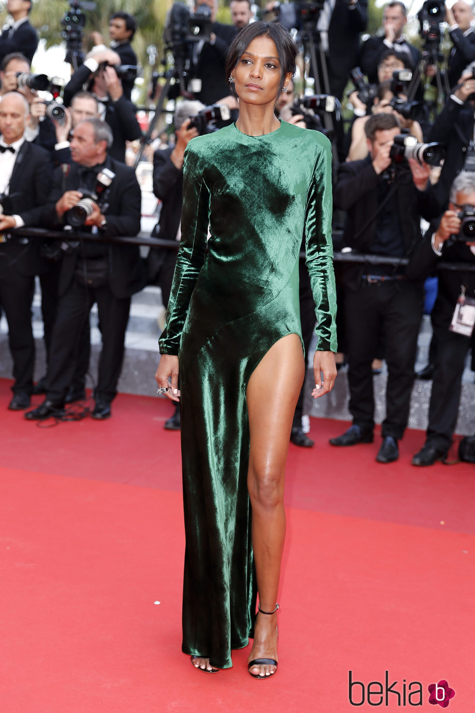 Liya Kebede en la premiere 'The Unknown girl' en el Festival de Cannes 2016
