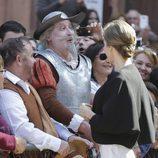 La Reina Letizia con Don Quijote en Villanueva de los Infantes