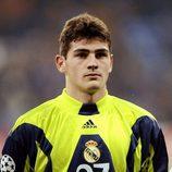 Iker Casillas en 1999 en el partido de Liga de Campeones frente al Rosenborg en Noruega