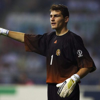 Iker Casillas en uno de los partido de la Copa del Mundo 2002 en Corea del Sur
