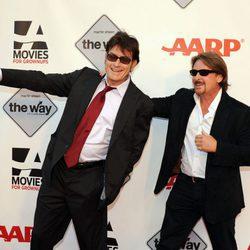 Charlie Sheen y Emilio Estévez en Grownups Film Festival