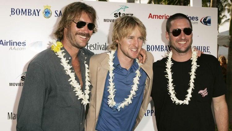Andrew, Luke y Owen Wilson en el festival de cine de Maui