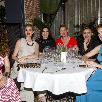 Ruth Lorenzo, Adriana Abenia, Loles León, Anne Igartiburu, Chenoa y María Castro en una cena saludable organizada por Campofrío