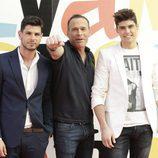 Alejandro Nieto, Carlos Lozano y Javier Tudela en la Sálvame Fashion Week 2016