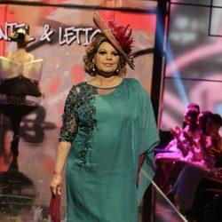 Terelu Campos desfilando en la Sálvame Fashion Week
