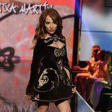 María Patiño desfilando en la Sálvame Fashion Week
