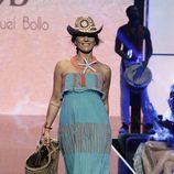 Raquel Bollo en el desfile de baño en la Sálvame Fashion Week