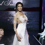 Paz Padilla desfilando vestida de novia en la Sálvame Fashion Week 2016