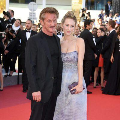 Sean Penn con su hija Dylan Penn en el estreno de 'The last face' en Cannes 2016