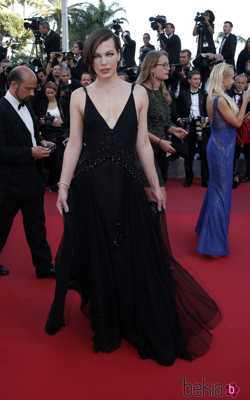 Milla Jovovich en el estreno de 'The last face' en Cannes 2016