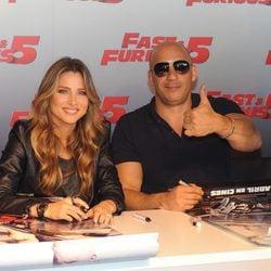 Vin Diesel y Elsa Pataky promocionando 'Fast & furious 5'