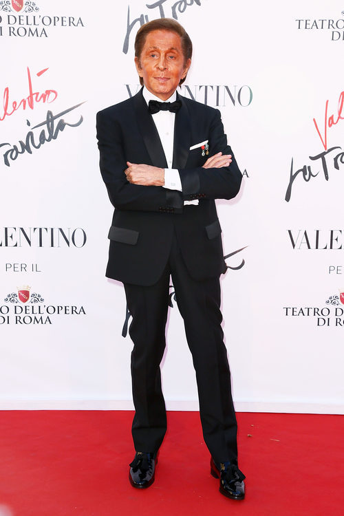 El diseñador Valentino Garavani en un acto en 2016