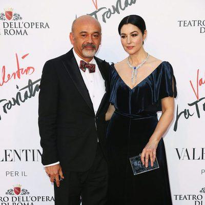 Christian Louboutin y Monica Bellucci en el estreno de 'La Traviata'  en Roma