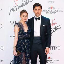 Olivia Palermo y Johannes Huebl en el estreno de 'La Traviata'  en Roma