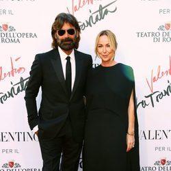 Patrizio Di Marco y Frida Giannini en el estreno de 'La Traviata'  en Roma