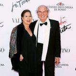 Vittorio Storaro y su mujer en el estreno de 'La Traviata'  en Roma