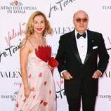 Dante Ferretti y Francesca Lo Schiavo en el estreno de 'La Traviata'  en Roma