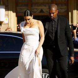 Kim Kardashian y Kanye West en el estreno de 'La Traviata'  en Roma