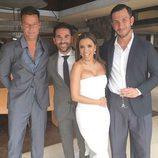 Ricky Martin y Jwan Yosef con Eva Longoria y José Bastón el día de su boda