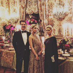Pablo y Marie Chantal de Grecia con su hija Olympia en el estreno de 'La Traviata' en Roma