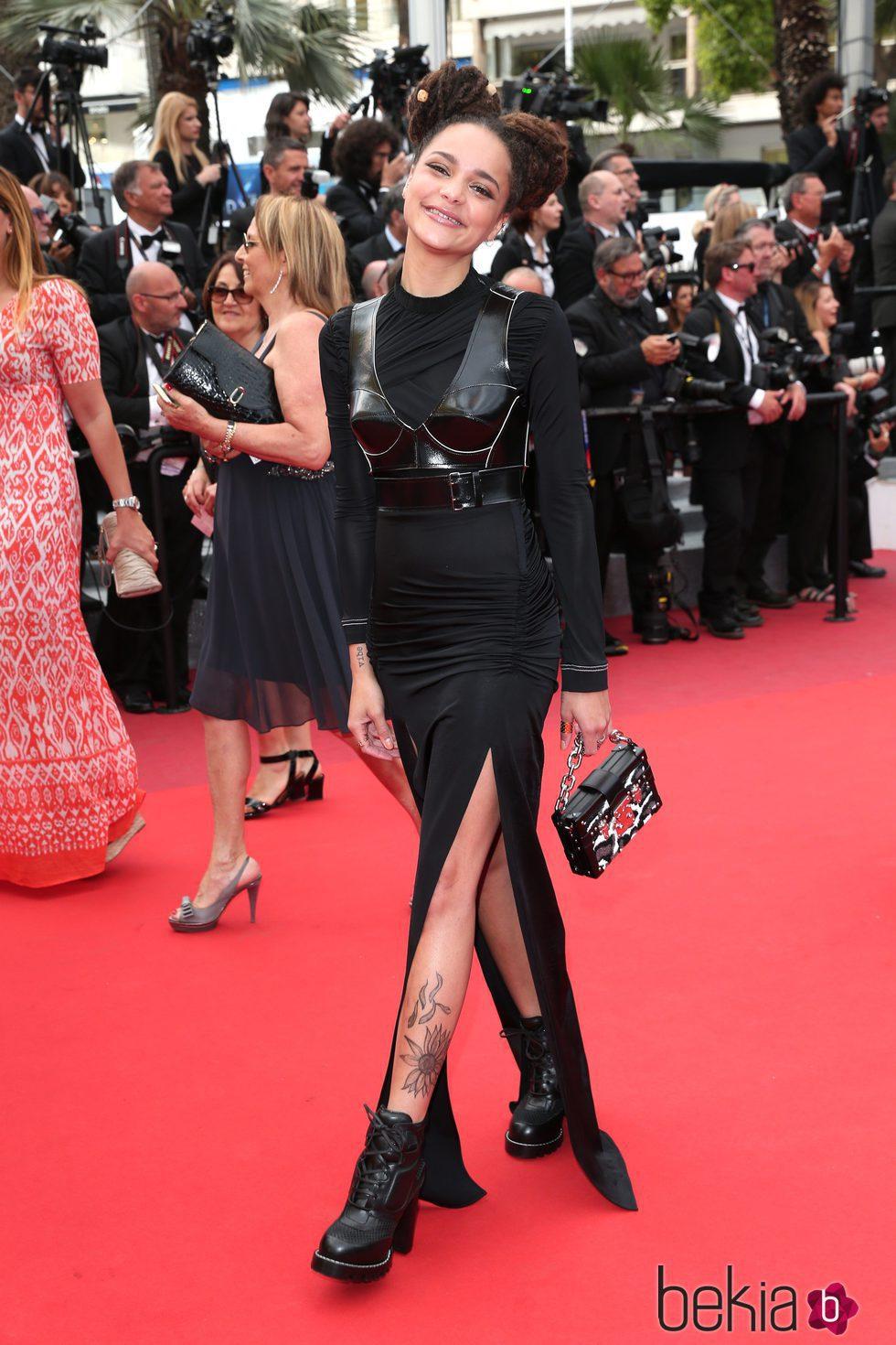 Sasha Lane en la clausura del Festival de Cannes 2016
