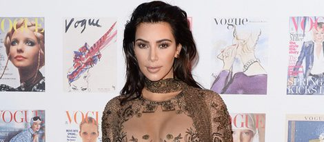Kim Kardashian en la fiesta del 100 aniversario de Vogue en Londres