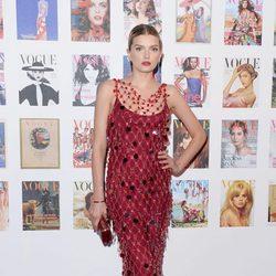 Lily Donaldson en la fiesta del 100 aniversario de Vogue en Londres