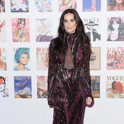 Demi Moore en la fiesta del 100 aniversario de Vogue en Londres
