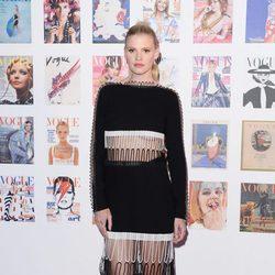 Lara Stone en la fiesta del 100 aniversario de Vogue en Londres