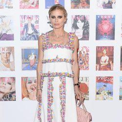 Laura Bailey en la fiesta del 100 aniversario de Vogue en Londres