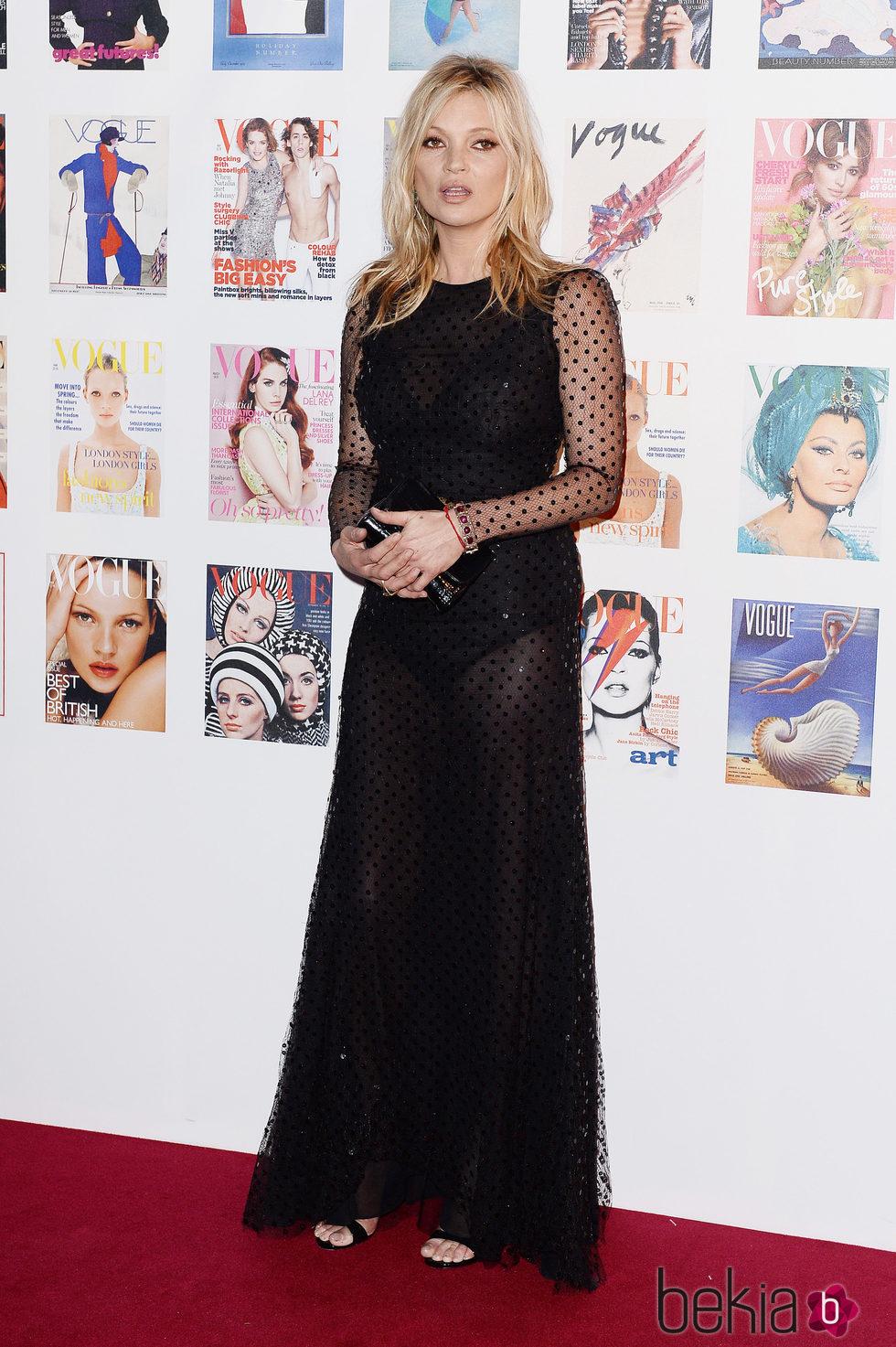 Kate Moss en la fiesta del 100 aniversario de Vogue en Londres